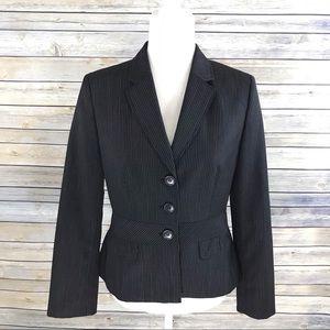 Ann Taylor LOFT Wool Blend Pinstripe Blazer Jacket
